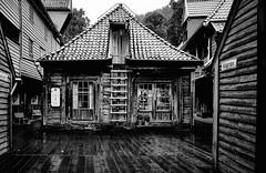 The Bellgarden (Mike_Mulcahy_Mono) Tags: green norway bergen shop old wooden norse black white monochrome fuji fujifilm xt1