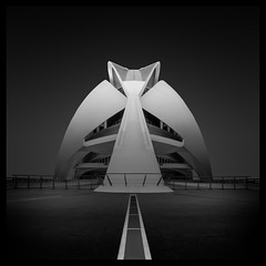 Presence (paulantony2) Tags: city architecture urban modern calatrava valencia building fineart monochrome blackandwhite square nikon d7100