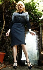 Pencil to Start With (Amber :-)) Tags: grey pencil skirt tgirl transvestite crossdressing