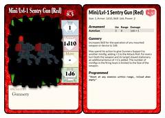 Mini-Lvl-1 Sentry Gun (Red) Statcard (Gunnery) (septentrion.legatus) Tags: lego ldraw tf2 brikwars tabletop wargaming engineer sentry gun statcard weapon gunnery