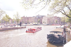 Postcard from Amsterdam (~Miel) Tags: postcard cartolina amsterdam netherlands holland northeurope north nordeuropa zomer estate summer holidays nikon d5200 canale battello canal boat