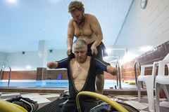 0615_02 (KnyazevDA) Tags: disability disabled diver diving amputee underwater wheelchair