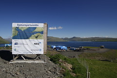 Eysturoyartunnilin info sign (Renno Hokwerda) Tags: faroe faroes faroese islands faeroe faeroes färöer färöerinseln tunnel vision visionary thesis planning impacts