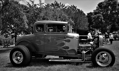 2017 River City Days Carshow Red Wing Minnesota (rabidscottsman) Tags: scotthendersonphotography coupe fordcoupe 1931 engine hotrod baypointpark blackandwhite park carshow classic flames nikon nikond7100 tamron 18270 tamron18270 mn minnesota redwingminnesota rivercitydays custom saturday weekend geotagged exploreminnesota