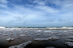 Bubbles by sea.