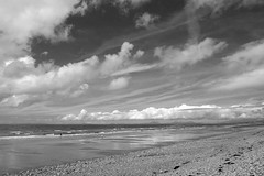 Coast (HonleyA) Tags: fuji fujifilmxt10 beach wales blackandwhite shore sea clouds cloud seascape