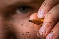 Matheaufgaben sind total transparent für mich (O.I.S.) Tags: strobist tim child boy kind mathe mathematics arithmetics school learning lernen schule stift bleistift pencil dividieren divide intelligence canon m3 100mm macro