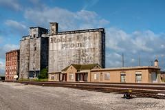 Abanson Santa Fe Depot and Robin Hood Mill in Ponca City, Ok (_patclancy56) Tags: santafe rrdepot