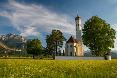 St. Coloman in Bavaria (Jon Ariel) Tags: stcoloman bavaria bayern germany deutschland alps schwangau field mountains baroque church