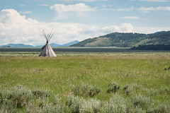 Lone Tipi on the Prairie (grimeshome) Tags: grandtetonnationalpark grandtetonsnationalpark tetons tetonnationalpark tetonslandscaape teton prairie plains nativeamerican americanindian indian tipi teepee grassland grasslands grass