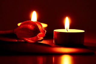 In the candlelight