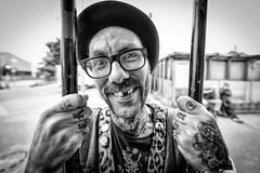 "#168 ""What the hell are you doing on this planet?"" (Hendrik Lohmann) Tags: street streetportrait streetphotography portrait people project whatthehell hendriklohmann duesseldorf nikondf nikon blackandwhiteportrait blackandwhite"
