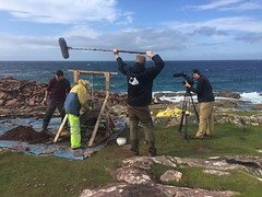 UrbanCroft Films on site at Clachtoll broch