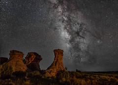 The 3 Sisters, Black Mesa area Oklahoma (lefturn99) Tags: milkyway nightscape night stars blackmesa oklahoma kenton photog 3sisters weddingparty darksky