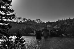 Bridge of the Gods Crossing the Columbia River (Black & White)