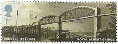 UK First Class Postage Stamp - Brunel and Royal Albert Bridge 1806-2006 (Faversham 2009) Tags: uk postagestamp royalalbertbridge firstclass postage stamp timbre briefmarke brunel 1806 2006 bridge river tamar railway devon cornwall