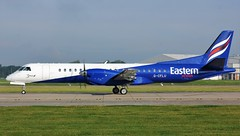 G-CFLU (AnDyMHoLdEn) Tags: eastern saab2000 egcc airport manchester manchesterairport 23l
