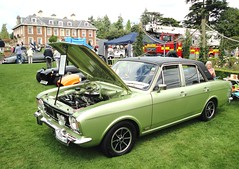 1970 FORD CORTINA mkII SAVAGE (shagracer) Tags: v6 1600e familys day classic car show sfj975j mkii mk2 highnam court families family meet