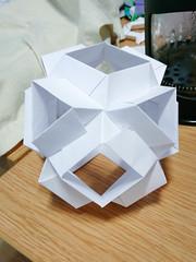 Star Wars origami? (Brian Ritchie) Tags: kusudama mariasinayskaya skellaalpha cuboctahedron modular origami