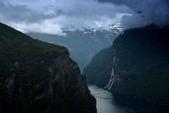 Seven sisters (DoctorMP) Tags: norwegia norway norge moreogromsdal góry lato summer mountains geirangerfjorden fjord geiranger sjusystre sevensisters wodospad waterfall