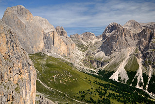 The Rosengarten / Catinaccio group in the Dolomites