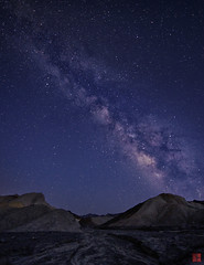 Starry Night at Death Valley (汤Pei) Tags: deathvalley milkyway night stars summer