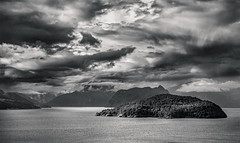 Howe Sound (martincarlisle) Tags: howesound boyerisland anvilisland horseshoebay pascoroad seatoskyhighway highway99 fjord inlets islands clouds canoneosm blackandwhite monochrome breathtakinglandscapes nwn