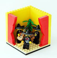 Mariachis (Pedro Vezini) Tags: lego music vignette guitar mariachis