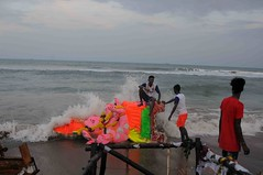 DSC_2093 (hkrajashekar) Tags: ganeshafestival ganeshaidols ganesha ido ganeshaidolsimmerssion shortbreak foreshoreestate foreshoreestatebeach colour chennai color colours water sea beach festival rajashekar hkr nikon