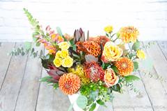 IMG_4735-3 (Garden Party Flowers) Tags: monarchordertopansy brightcolour florist flowers getwellarrangement orangeandyellowarrangement vancouver