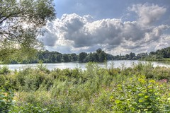 Lake Obersee (HDRforEver) Tags: hdr canon 600d photomatix bielefeld obersee lake nrw nordrheinwestfalen germany deutschland see wolken clouds cloud water green august new interesting owl ostwestfalen landscape landschaft summer sommer flowers sky bluesky wasser nature natur