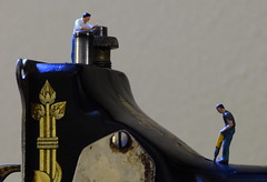 Refurbishment - detail (done by deb) Tags: miniatures preiser sewingmachine singersewingmachine
