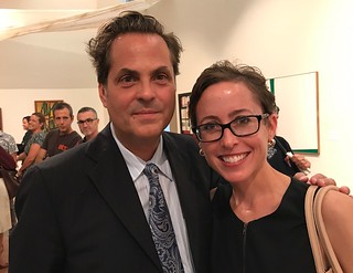 Prof. Victor Deupi, CINTAS President, with wife Jill, Director and Chief Curator of the Lowe Art Museum at the CINTAS Fellows' Abstract Art exhibition.