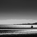 Sandymount beach - Dublin, Ireland - Black and white street photography thumbnail