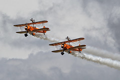 1C5A3344 Wingwalkers (photozone72) Tags: scampton airshows aircraft airshow aviation canon canon7dmk2 canon100400f4556lii 7dmk2 breitlingwingwalkers breitling stearman boeing biplane props wingwalkers