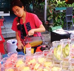 DSCF4333 (Steve Daggar) Tags: chiangmai thailand travel buddhist monk markets street candid asia