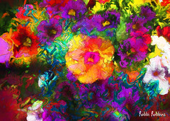 Wah Wah (brillianthues) Tags: abstract flowers floral colorful collage photography photmanuplation photoshop