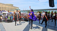 Street of the Soran (Sakuramai Toronto) Tags: 2017 celebrationsquare japanfestival japanfestivalcanada japanese mississauga costume dance dancer group live outdoor people performance pose show stage summer sunlight traditional yosakoi color energy movement festival