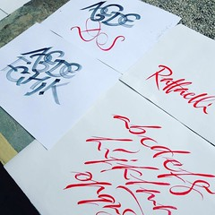 During workshop with Carl RohrsCalligraphy: #chiarariva