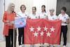 """Cifuentes recibe a las cinco mujeres que participan este año en el """"Reto Pelayo Vida"""" (Comunidad de Madrid) Tags: cristinacifuentes realcasadecorreos presidentadelacomunidaddemadrid reto ártico cáncer comunidaddemadrid"""