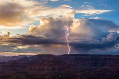 The Arrival (Mike Olbinski Photography) Tags: 20170913 arizona canon50mm12l canon5dsr cliffs grandcanyon lightning monsoon positivecg rain stormchasing sunset thunderstorms