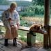 (Anton Novoselov) Tags: огород бабушка кошка деревня россия