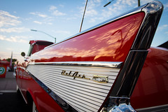 1957 Chevy Bel Air Convertible (Photos By Clark) Tags: california canon1740 unitedstates location northamerica canon60d locale places where escondido us red 1957 chevy chevrolet belair classic restore restored sky clouds lightroom