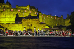 Tattoo 2nd Visit-32 (Philip Gillespie) Tags: 2017 edinburgh international military tattoo splash tartan scotland city castle canon 5dsr crowds people boys girls men women dancing music display pipes bagpipes drums fireworks costumes color colour flags crowd lighting esplanade mass smoke steam ramparts young old cityscape night sky clouds yellow blue oarange purple red green lights guns helicopter band orchestra singers rain umbrella shadows army navy raf airmen sailors soldiers india france australia battle reflections japan fire flames celtic clans