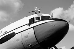 Douglas DC-3 (Von Noorden) Tags: noiretblanc einfarbig wand black white blackandwhite bw sw schwarzweiss topv airport lübeck germany blankensee people streetphotography streetart street plane airplane douglas dc3