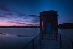 Blueth (Matthew Murray Photo) Tags: sunrise sunset reflection longexposure sundown dawn afterglow blue hour still water 16mm mirroring lakescape nikon rokinon samyang resevoir samyang16mmf20edasumccs