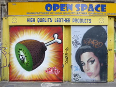HNRX + Akse P19 graffiti, Brick Lane (duncan) Tags: graffiti bricklane streetart shoreditch hnrx aksep19 amywinehouse