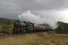 Steam in the West Highlands (Andrew Edkins) Tags: k1class 62005 fassfern westhighlands scotland the jacobite uksteam railwayphotography travel trip storm rain steamtrain light geotagged canon railtour charter morning september 2017 autumn trees hills