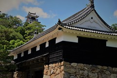 ✪ 高知城の追手門から望む天守閣 -高知県高知市-