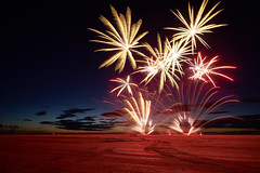 Southport Fireworks (thomasgreen92) Tags: southport airshow fire fireworks beauty beautiful light colours red sand beach sony a7 1635 photography landscape night lighting camera flames stars astrophotography